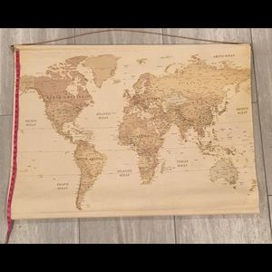 Wall Art Vintage Map Tapestry Wall Decor From Hobby Lobby Poshmark